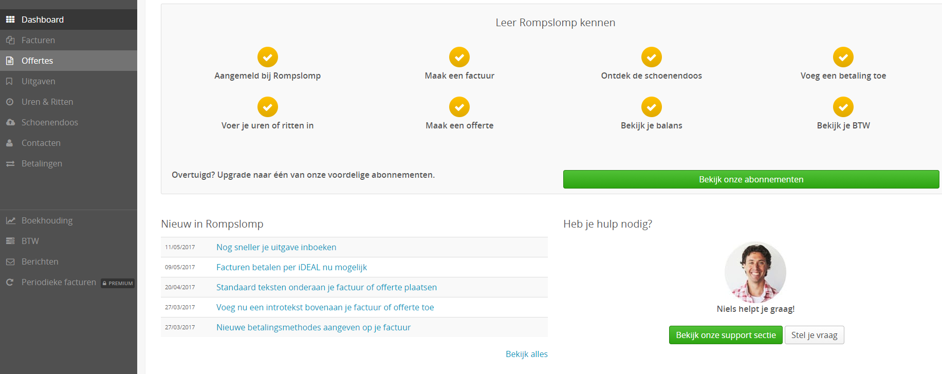 Startscherm-online-boekhoudprogramma-Rompslomp