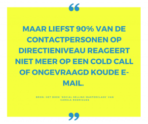 Quote koude acquisitie - Dymph Neeteson - Virtual Professional