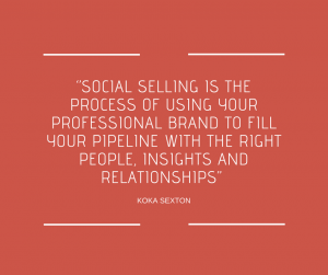 Social selling quote - Dymph Neeteson - Virtual Professional