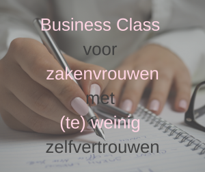 Zakenvrouwen met weinig zelfvertrouwen: business class