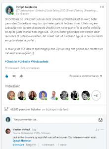 Virale kennisdelingspost LinkedIn-trainer - Dymph Neeteson